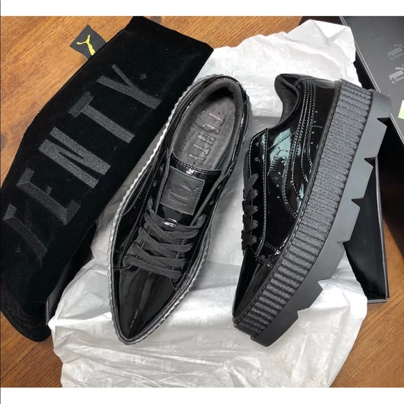 puma pointy patent leather creeper sneakers